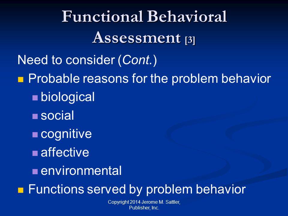 Functional Behavioral Assessment [3]
